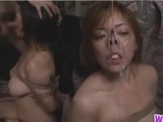 これは惨い!?地下の密室で女達が悪者に性処理奴隷に!